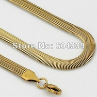 Free Shipping Wholesale Top Quality Fashion Mens Stainless Steel Herringbone Necklace Link Chain KN120