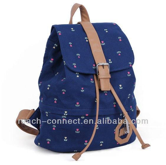 Dama de la moda mochila, bolsas de bolsas de lona para los estudiantes universitarios