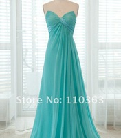 DS-044 Freeshipping 2012 new designer off the shoulder babay blue color evening dresses