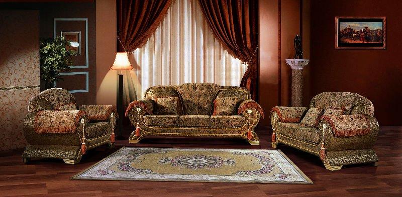 Arabic fabric sofa set cheap living room sofa 1 chaise 3 3018 view