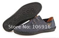 Free Shipping Men's Classic Pop Fashion Casual Shoes No glue Handmade Shoes New #RW261 Gray Size 39-44