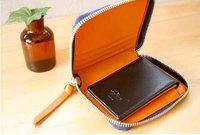 2012 zipper folding PU leather money clips/wallet WLHB380