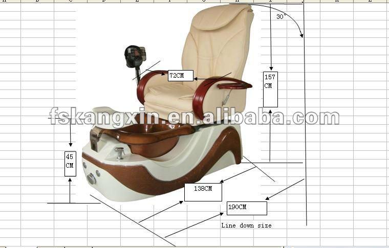 pedicure chair dimensions 2