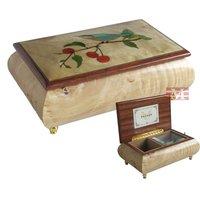 Музыкальная шкатулка 2013 New style wooden jewelry box music box for birth-day, valentine's day, Christmas, boyfriend, girlfriend