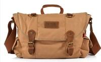 Маленькая сумочка NWT Vintage Men Canvas Cow Leather Handbag Messenger Multifunction Shoulder bag