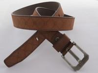 Мужской ремень superior quality brown stripe PU leather men's belt
