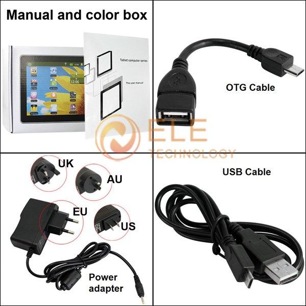 "NUEVA TABLET 7"" android 4.0 atm7013 cortex a8 tablet pc 512MB 4GB USB"