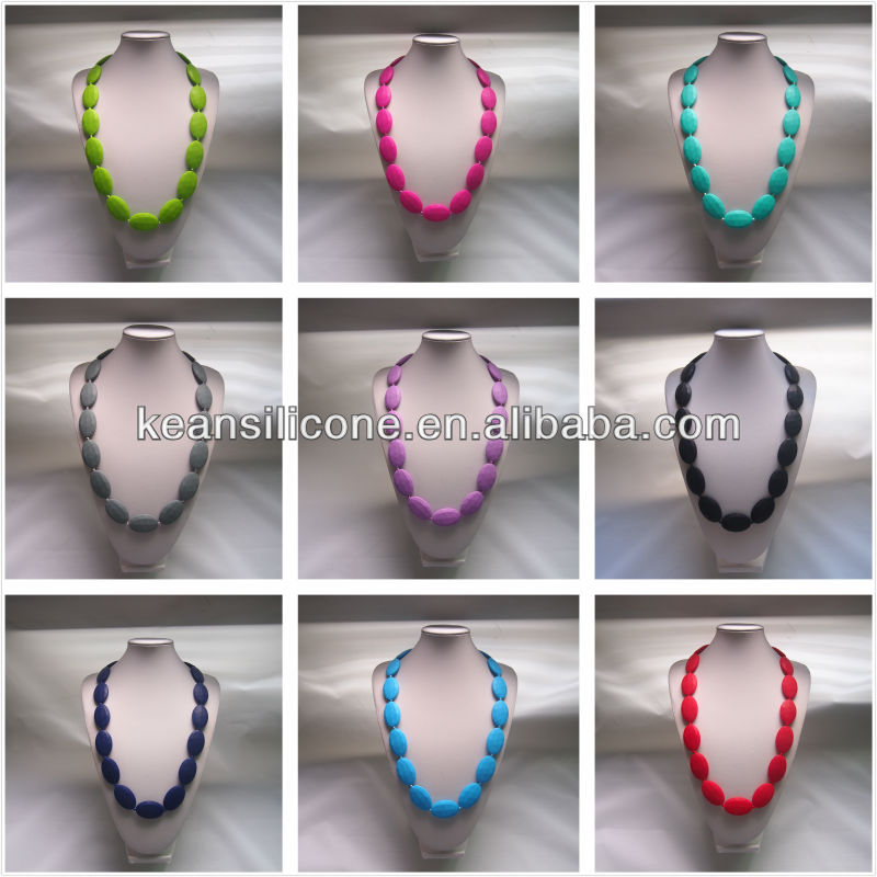New design Baby teething necklaces /Silicone Beads for Necklace/Soft Silicone Beads