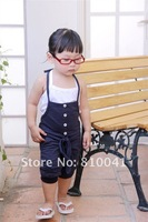 Комбинезон для девочек 5 Pcs/Lot Cotton Suspender Short Pants Gray Dark Blue 2 Colors 5# 7# 9# 11# 13# 5 sizes