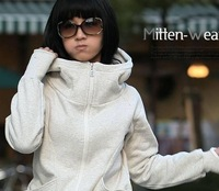 Одежда и Аксессуары women's clothing women's sweatshirts beautiful hoodies zipper coat girl's winter coat
