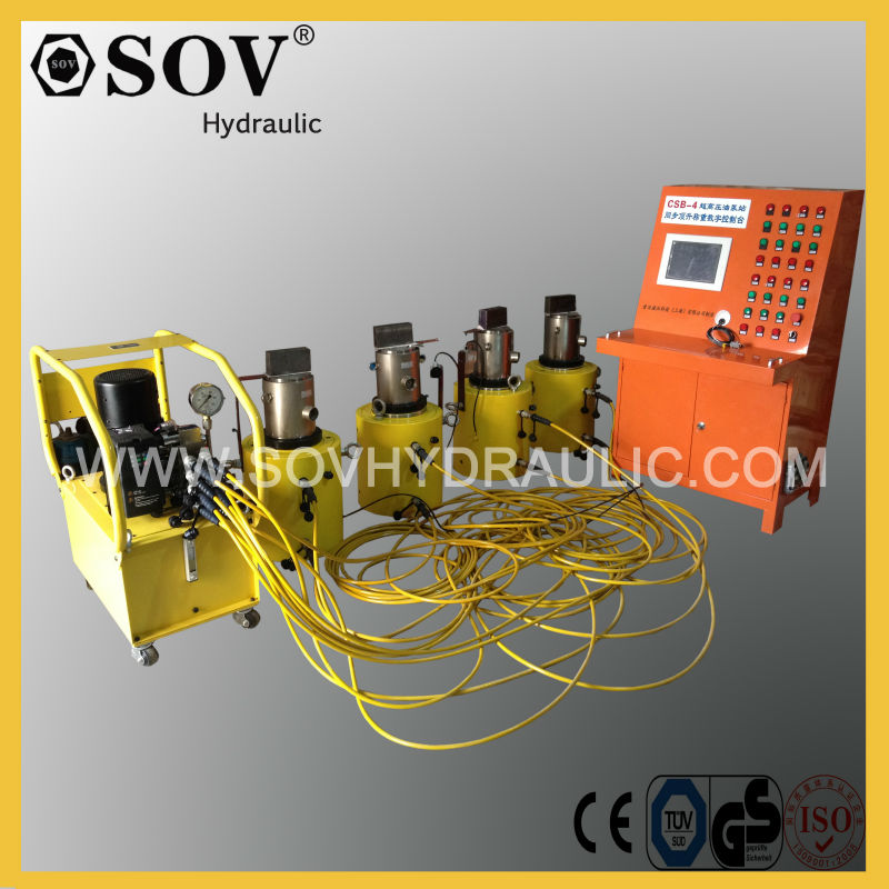 hydraulic electronic control system for lifting and supporting