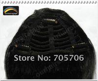 Free Shipping NEW bangs Fringe Black #1,100% HUMAN HAIR Clip in Hair Extension Fringe/Bangs