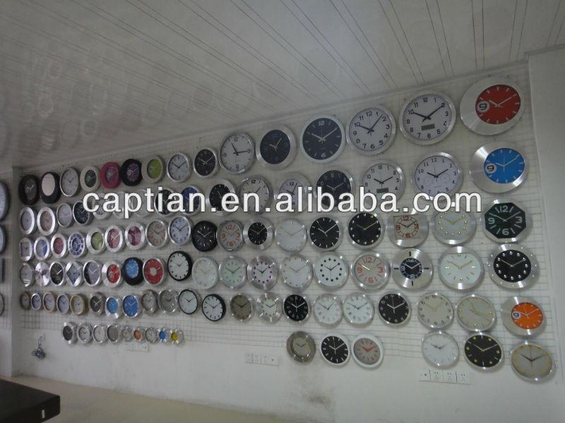 square plastic home decor table clock