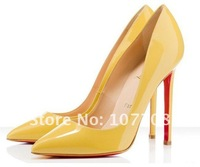 Туфли на высоком каблуке 2012 Newest Pigalle 120mm nude Patent Leather Pumps, Sexy High Heels Shoes, Women Evening Shoes
