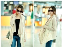 Женская куртка 2013 fashion autumn winter coat plus size casual loose patchwork clothing set cardigan brief jacket tops
