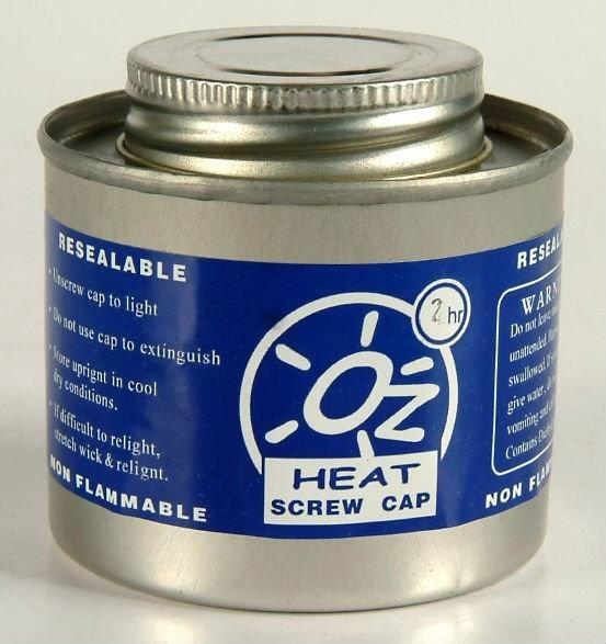 Oz Heat Screw Cap buffet chafer fuel