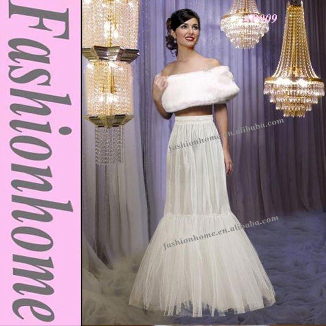 Mermaid bridal crinoline slip wedding dress underskirt petticoat AP009