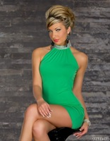 Женское платье Fashion Ladies Bare shoulder dress halter party costume Sexy clubbing wear sexy dress outfit W1334