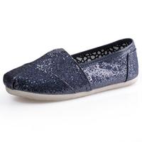 Мода многоцветные женщин блестками ткани Обувь досуга моды один обувь sice 35-40 евро