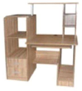 Stable grand espace bois bureau d 39 ordinateur avec tag re - Bureau d angle avec etageres ...