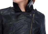 Женская одежда из кожи и замши slim fit D692