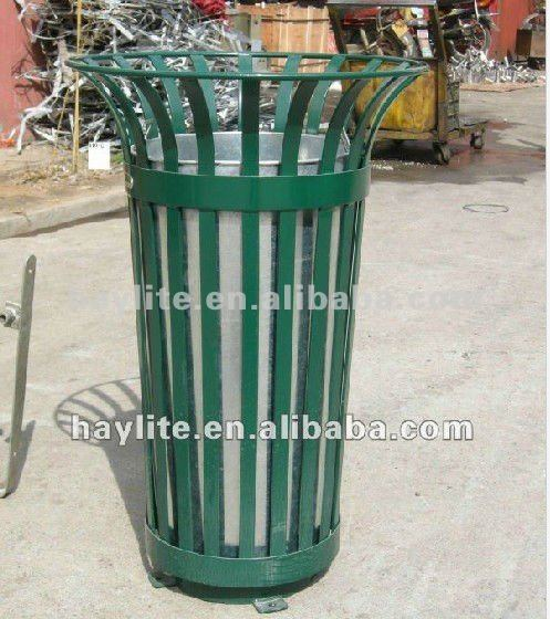 Outdoor stainless or powder coated outdoor trash can