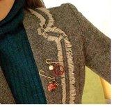 Брошь s Vintage Colorful Glazed Cute Crown Ladybug Brooch Pin X8