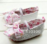 S020 детей обуви белый розовый кружевной детские туфли девушка теплых красивых малышей мягкие единственного ребенка