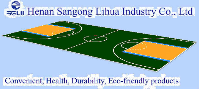 SGLH pp interlocking sports flooring for basketball court