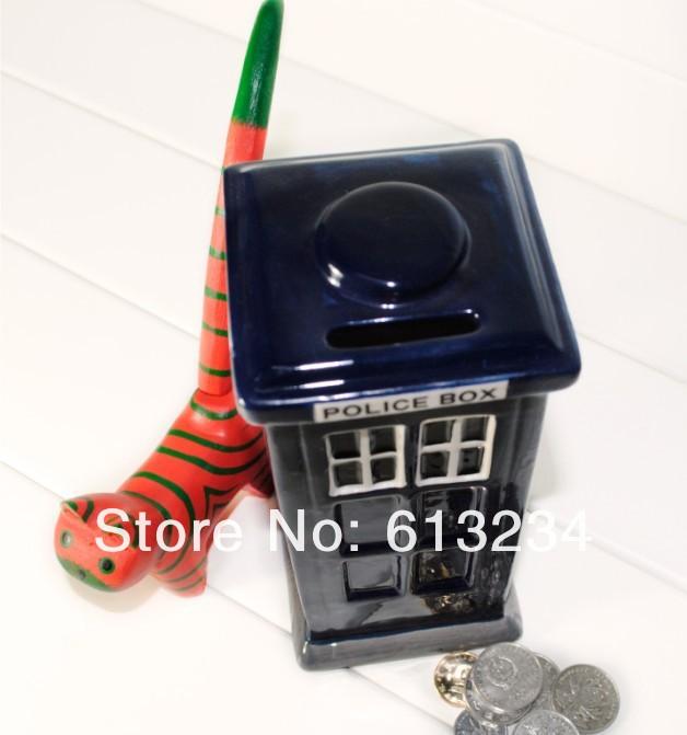 Free shipping wholesale 10pieces lot doctor who tardis piggy bank ceramic money box in money - Tardis piggy bank ...