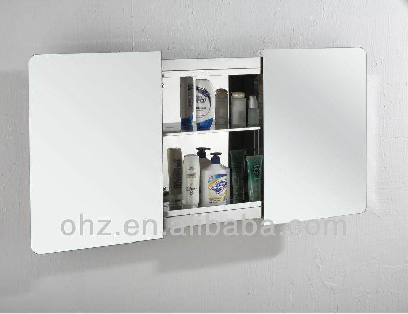Moderne mur mont porte coulissante armoire de toilette for Meuble de salle de bain porte coulissante