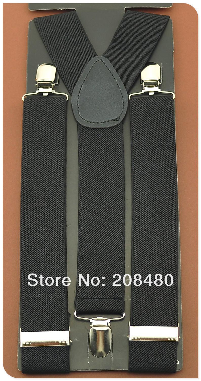 """-Men's Unisex Clip-on Braces Elastic 3.5cm Wide """"Черный"""" Suspenders/gallus  & Retail"""