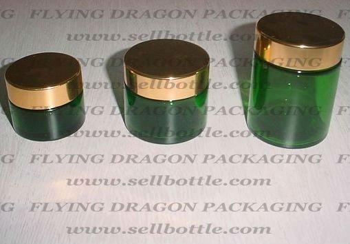 30ml, 60ml, 100ml, ambra, blu, verde vaso di vetro con coperchio in alluminio, vaso di vetro cosmetica, vasetto di crema