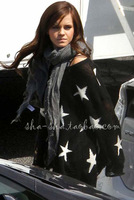2012 Fashion  Sexy star hole  wool  Sweater   Ragged Knitted Jumper Top sweatshirt black loose style free shipping