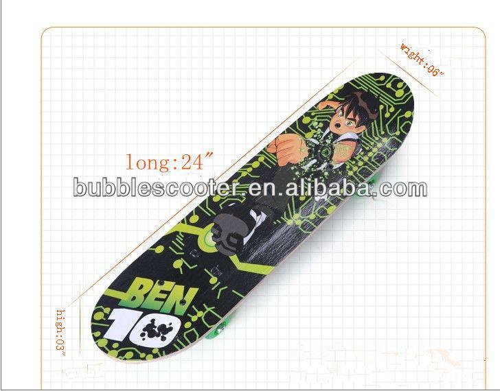 the kid's skateboard fiberglass skateboard