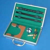 2013 novelty designand Aluminum golf case with stroge handle size 620*120*90MM