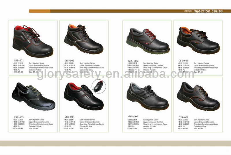 Leather shoe for industrial work GSS-046