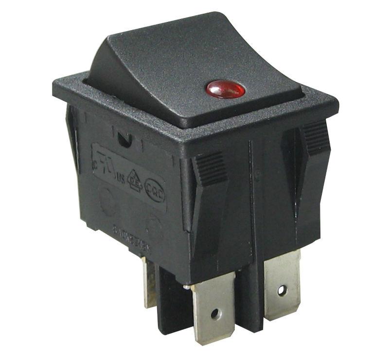 Le pôle double dpdt spst interrupteur à bascule, interrupteur on-off, on-on, avec on-off-on/sans illuminé. fabricant en chine