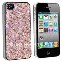 For iPhone 4 4G Hard Bling Case, Free Shipping Glitter Bling Shining Hard Back Case For iPhone 4G 4,plastic case cover