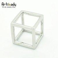 Кольцо Artilady CR111105015 925 sliver hollow cube design ring valentine's gift punk rings brithday gift new arrivre