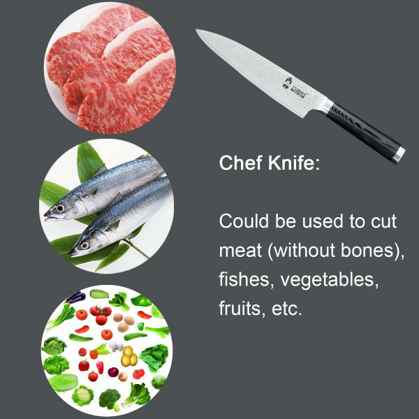 Famous brand ceramic knife with white handle