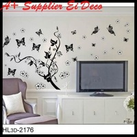 Free shipping:1 SET=5.99USD ONLY The Cute Floral fairy  Sticker Hot selling Print type DIY Decoration Fashion Wall Sticker
