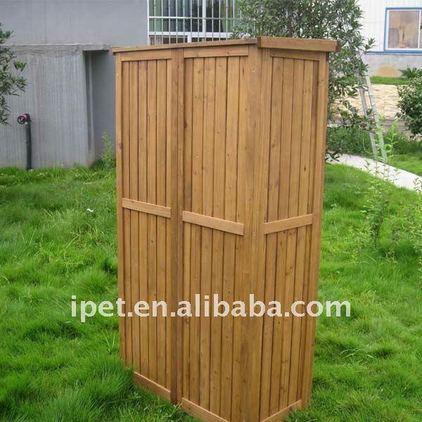 Premium large cheap outdoor wooden garden storage cabinet