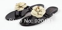 Женские сандалии New summer woman sandals summer shoes camellia slippers flip flops jelly shoes crystal flower sandals flats size:36-40 DZ45