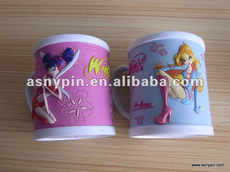 custom cute cartoon mouse plastic mug cup for kids