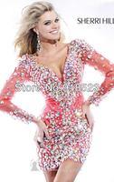 Пользовательские хрусталь мини платье платье формальных платья выпускной вечер платье платья