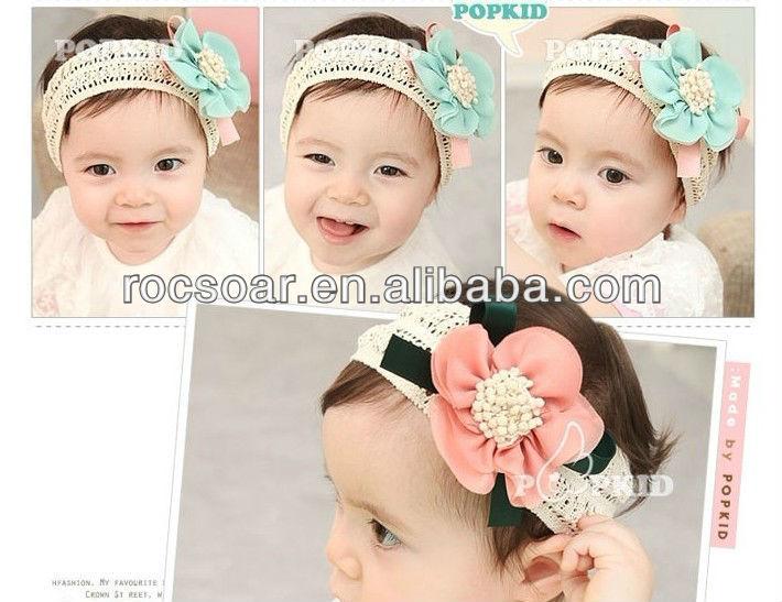Adjustable elastic infant headbands