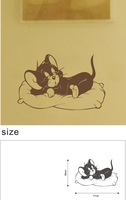 And Retail Sleeping Tom Cat 77cm*50cm Wall stickers home decoration house decorative decals, H-10