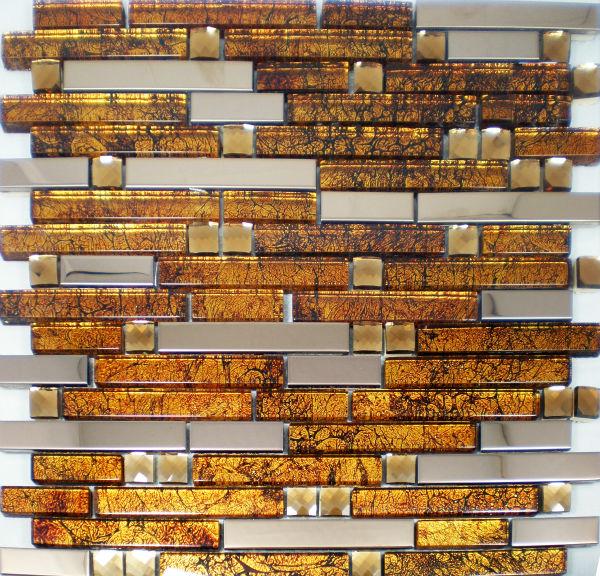 stainless steel backsplash decorative metal mix glass