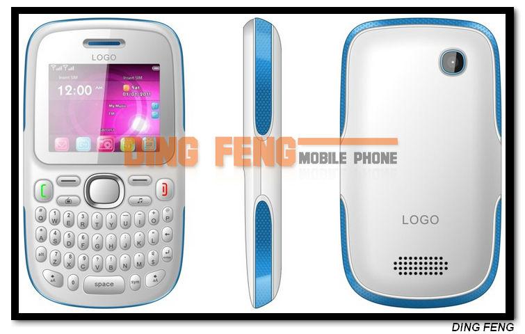 New Arrival GPRS Dual Sim Gsm Quad Band Java TV Slim Qwerty Keypad Mobile Phone D101
